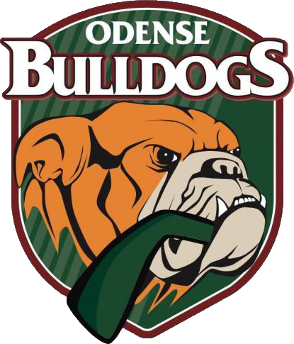 Odense Bulldogs logoet, der linker over til deres hjemmeside